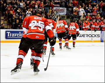 Сборная OHL нанесла 52 броска по воротам Ивана Налимова