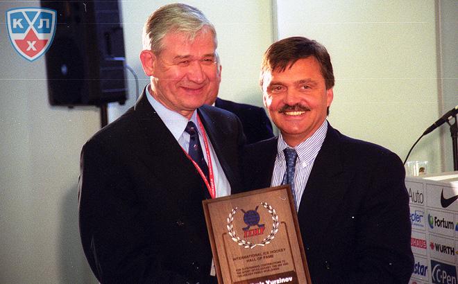 Владимир Юрзинов и Рене Фазель. Фото 2002-го года.