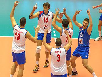 Сборная Сербии сумела одержать победу над голландцами, проигрывая 0:2 по партиям