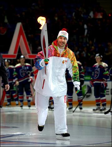 Илья Ковальчук и эстафета Олимпийского огня