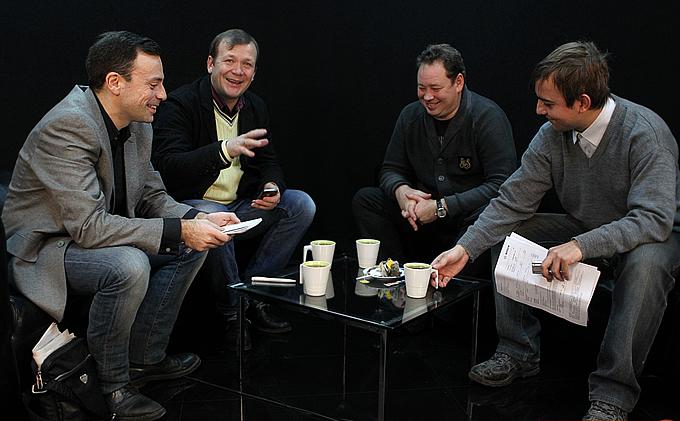 Слева направо: Игорь Рабинер, Александр Шмурнов, Леонид Слуцкий и Денис Целых