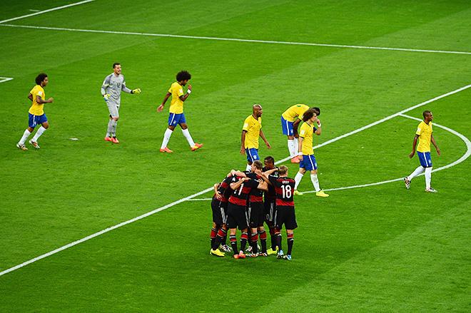ЧМ-2014. 1/2 финала. Бразилия – Германия – 1:7. Хозяева чемпионата в растерянности