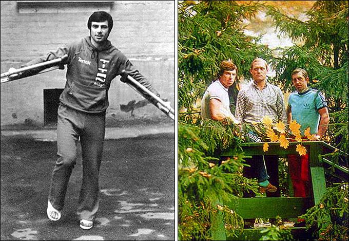 Валерий Харламов ходил на костылях после автокатастрофы, поэтому первая тройка сборной осталась дома