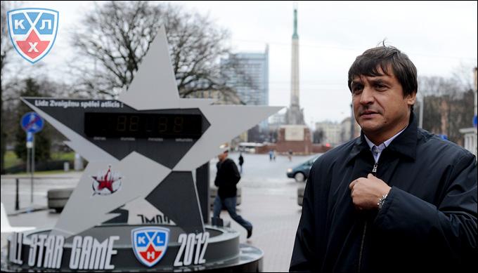 Валерий Каменский на Матче всех звёзд КХЛ