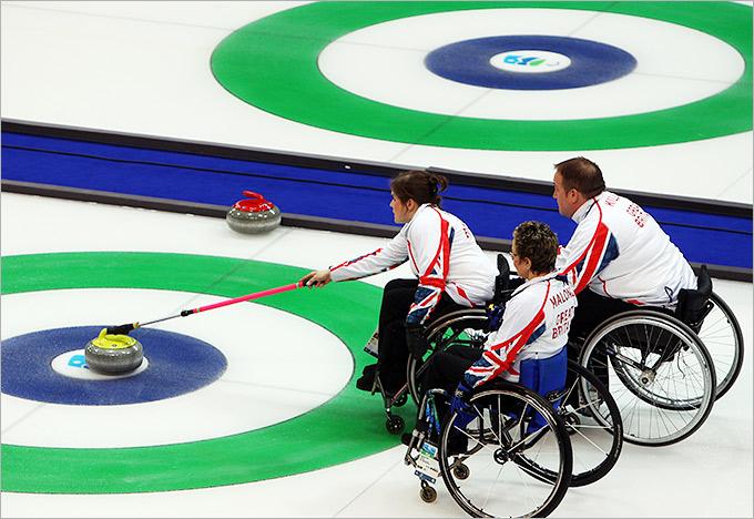 В кёрлинге на колясках матч длится восемь эндов