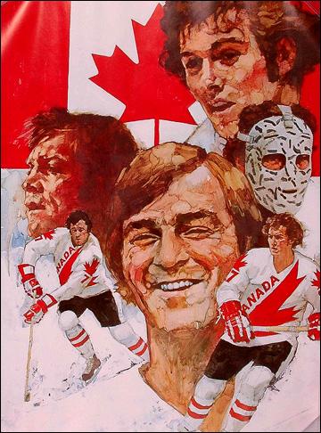 Афиша сборной Канады, посвященная Кубку Канады 1976 года