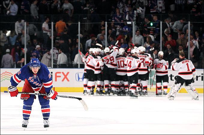 """17 мая 2012 года. Нью-Йорк. Плей-офф НХЛ. Финал Восточной конференции. """"Нью-Йорк Рейнджерс"""" — """"Нью-Джерси Дэвилз"""" — 2:3"""