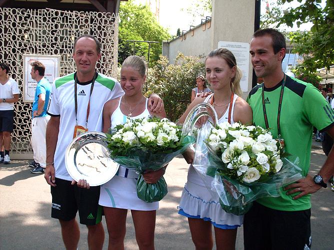 Ирина Хромачёва и Марина Заневская со своими тренерами