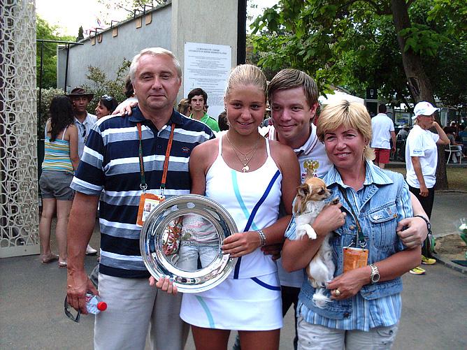 Ирина Хромачёва с семьёй