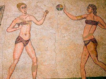 Мозаичное панно, найденное на Сицилии