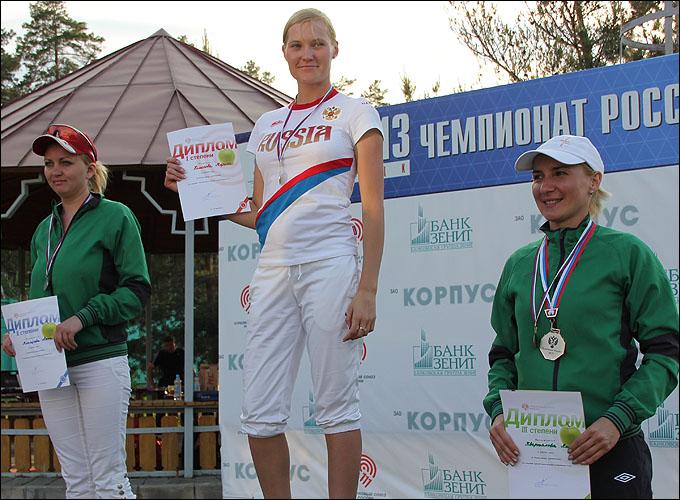 Марина Беликова на верхней ступени пьедестала в Липецке