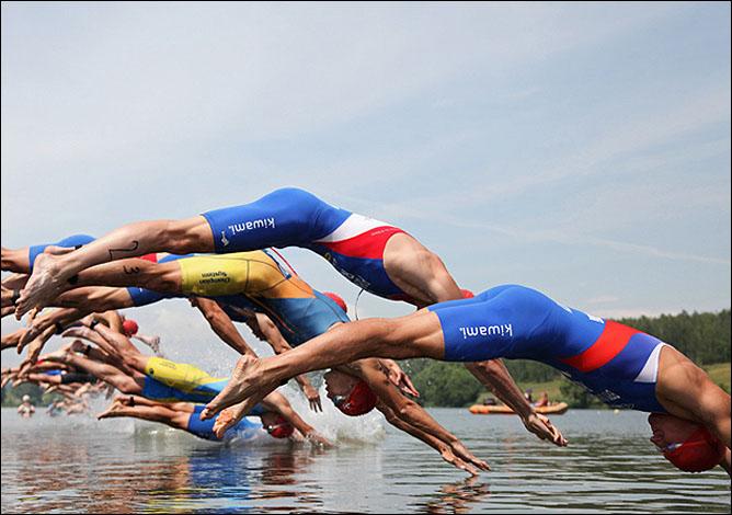 Плавание — первая часть триатлона