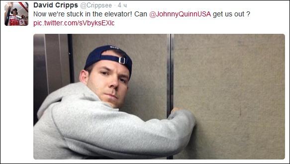 Американские бобслеисты застряли в лифте