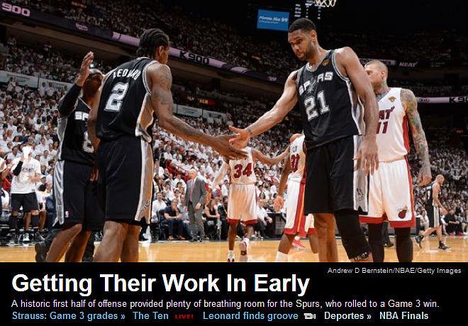 ESPN: «Закончив свою работу пораньше»