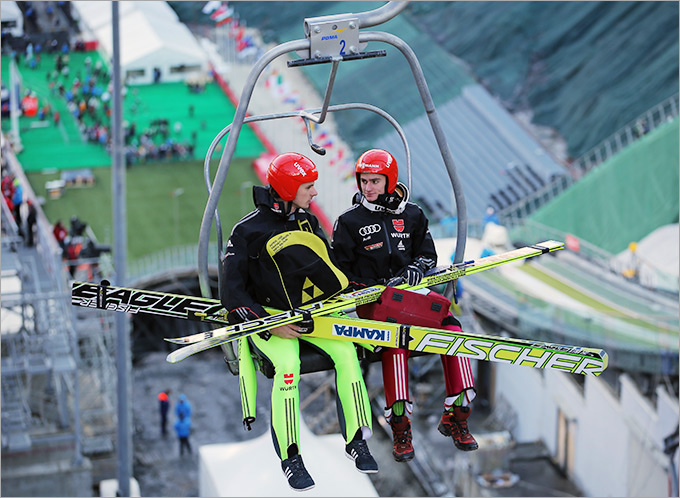 """Подъёмники олимпийского прыжкового комплекса """"Русские горки"""" готовы бесперебойно доставлять спортсменов к стартовой площадке"""