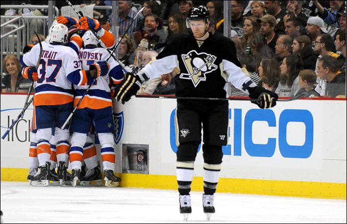 """3 мая 2013 года. Питтсбург. Плей-офф НХЛ. 1/8 финала. Матч № 2. """"Питтсбург"""" — """"Айлендерс"""" — 3:4. Серия пеезжает в Нью-Йорк"""