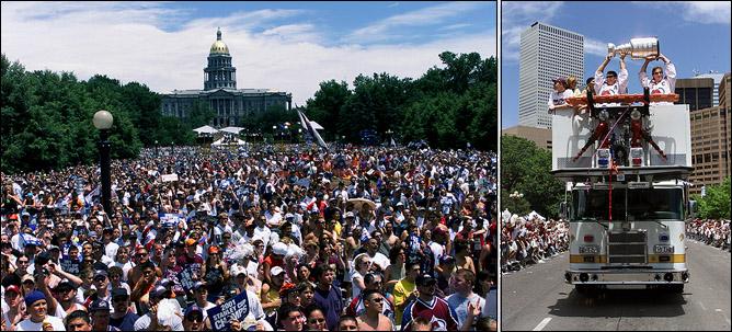 11 июня 2001 года. Денвер. Народные гуляния и чествование обладателей Кубка Стэнли