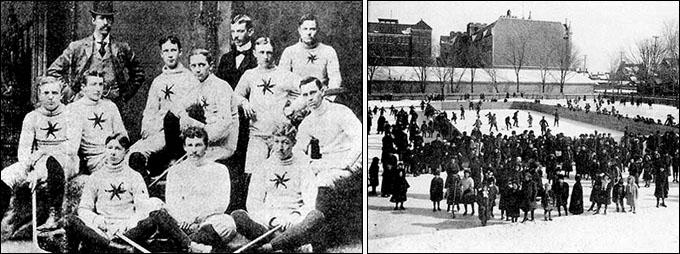 Слева — одна из первых фото Харви Пулфорда (в среднем ряду второй слева). Справа — Оттава на рубеже веков