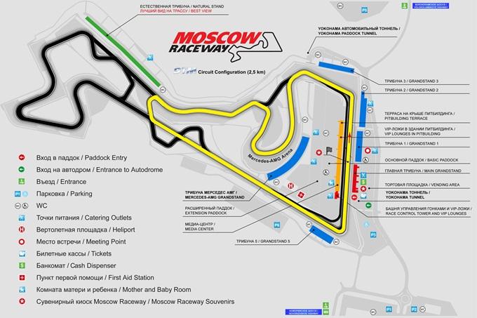 Конфигурация трассы для российского этапа DTM