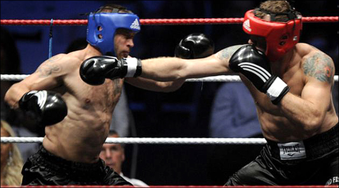 Финал боксерского турнира ледовых тафгаев
