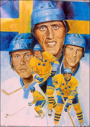 Афиша сборной Швеции, посвященная Кубку Канады 1976 года