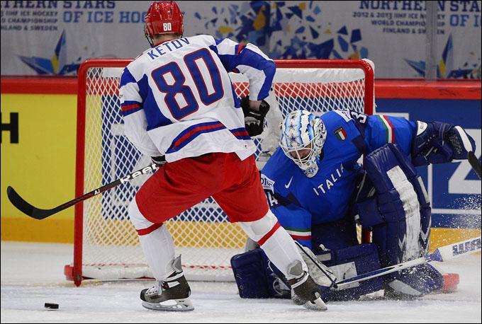 Евгений Кетов против сборной Италии