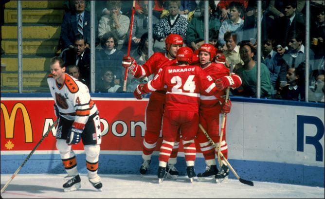 Рандеву-1987. Второй матч. Сборная Советского Союза выходит вперед.