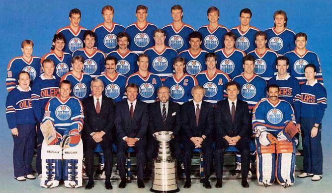"Обладатели Кубка Стэнли 1987 года — ""Эдмонтон Ойлерз""."