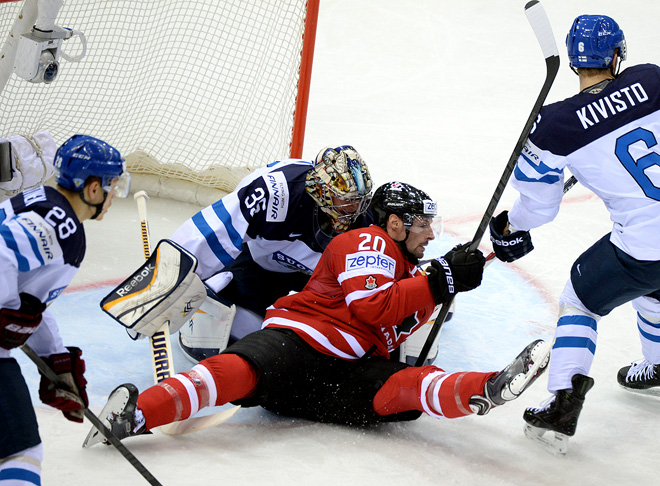 21 мая 2014 года. Чемпионат мира. Минск. 1/4 финала. Канада — Финляндия — 3:2