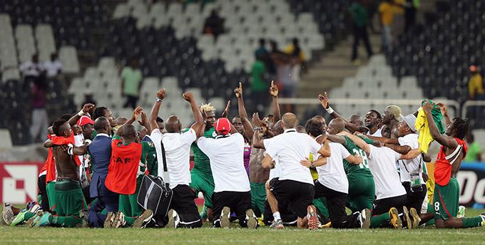 Ликование сборной Буркина-Фасо