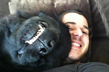 Любимый пёсик Дэвида