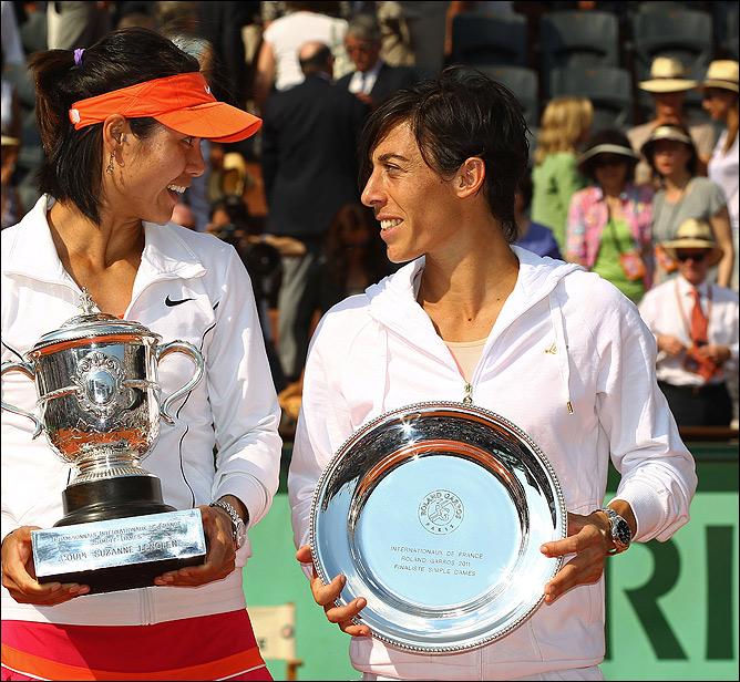 Франческа поздравляет Ли На с победой