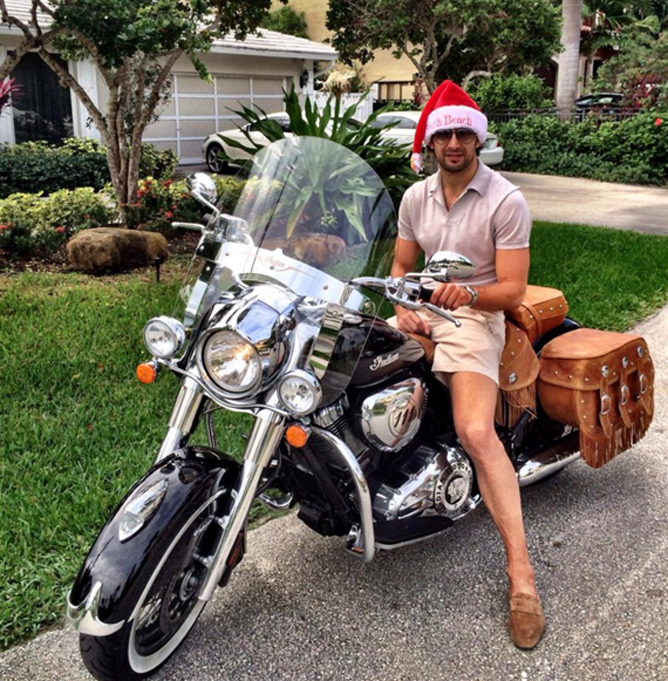 Флорида. Шовковский на мотоцикле