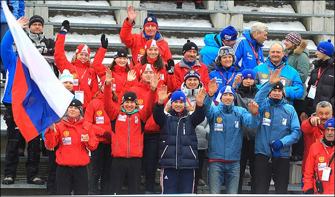 Тёплый приём был оказан всем участникам 7-го этапа Кубка IBU в Плейк-Айле. Наших болельщиков на трибунах тоже оказалось довольно много