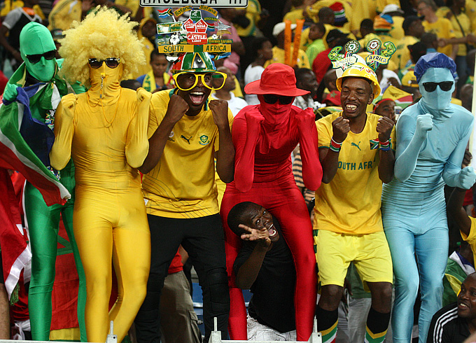 Радость поклонников сборной ЮАР