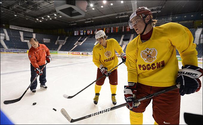 Александры Овечкин и Сёмин на первой раскатке в Стокгольме