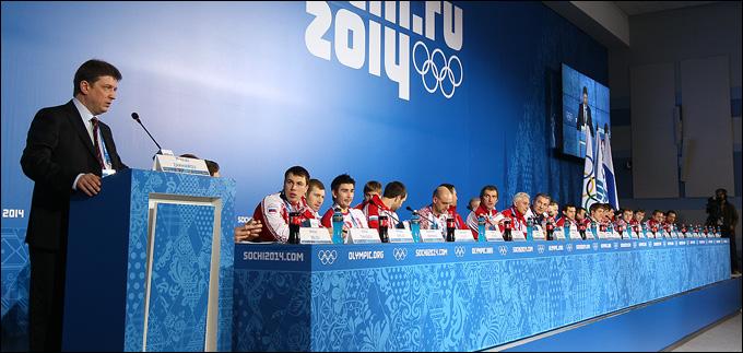 Пресс-конференция сборной России. Взять количеством