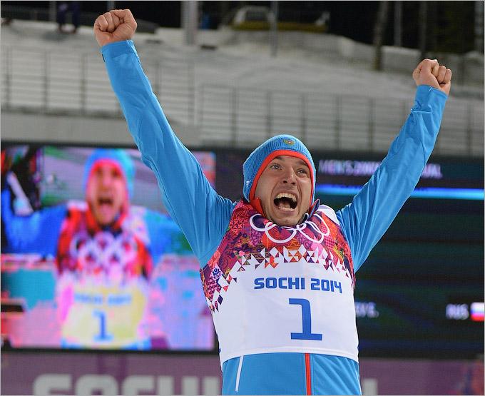 Бронзовая медаль Евгения Гараничева в биатлоне