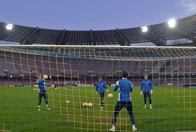Тренировка «Динамо» в Неаполе