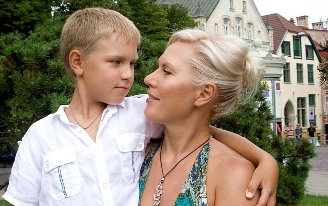 Наталья с сыном Иваном