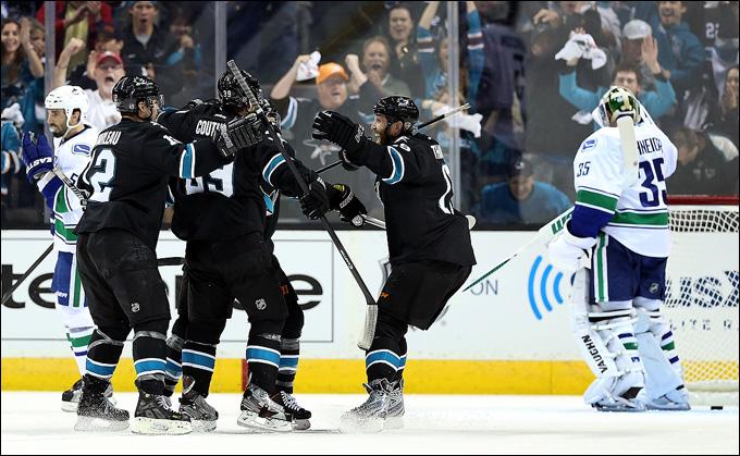 "5 мая 2013 года. Сан-Хосе. Плей-офф НХЛ. 1/8 финала. Матч № 3. ""Сан-Хосе"" — ""Ванкувер"" — 5:2"