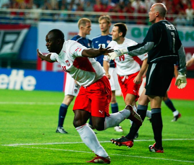 Олисадебе — первый и пока единственный чернокожий футболист, сыгравший за сборную Польши на чемпионате мира