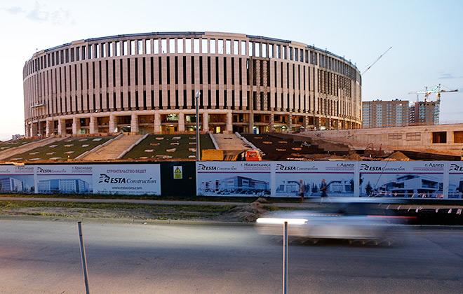 Строящийся стадион футбольного клуба «Краснодар»