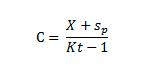 где: Sp – сумма, потерянная на догоне; Kt – актуальный коэффициент