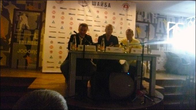 Слева направо: Андрей Осипенко, Кари Ялонен, Анатолий Богданов