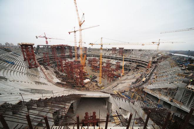 Строительство «Зенит-Арены»