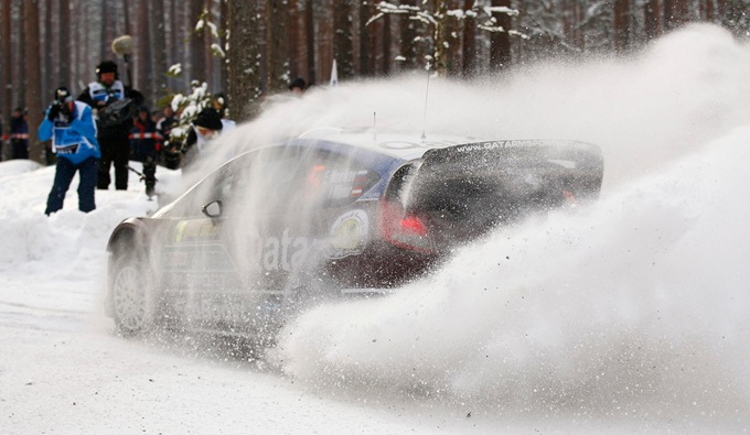Евгений Новиков на Ралли Швеции WRC