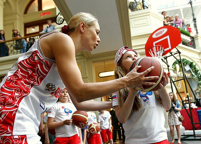 Фотосессия женской сборной России по баскетболу
