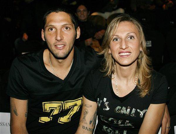 Марко Матерацци с женой