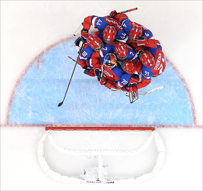 Женская сборная России празднует успех